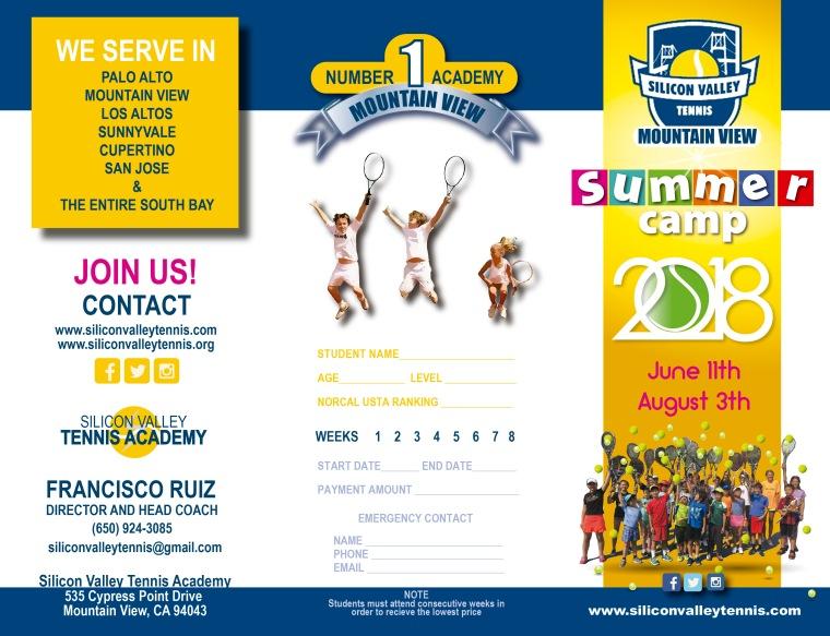 tríptico silicon valley summer camp 2018